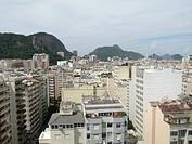 Aerial view of Copacabana, Rio de Janeiro, Brazil