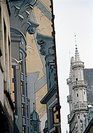 Facades painted by Belgium artists, Centre-ville, Brussels, Belgium