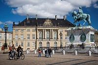 The Royal Palace Amalienborg in Copenhagen, Denmark