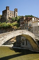 Bridge at Dolceacqua, Liguria, Italy