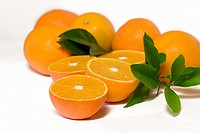 orange Citrus sinensis, orange pieces