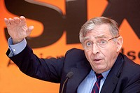 Erich Sixt, chief executive and main shareholder of the Sixt AG, during the press conference on financial statements, 19.03.2009 in Munich, Bavaria, G...