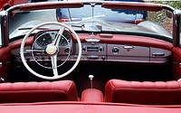 Old Mercedes 190 SL convertible, interior view