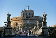 Castel Sant'Angelo, Mausoleum of Hadrian, Ponte Sant'Angelo, Rome, Lazio, Italy, Europe