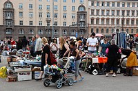 Finland, Helsinki, Helsingfors, Kauppatori, South Harbour Esplanade, Market Place