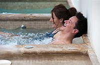 couple enjoying spa