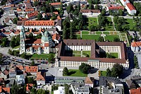 St. Lorenz basilica, residence and orangery, Germany, Bavaria, Allgaeu, Kempten