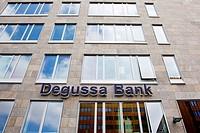 Headquarters of the Internet bank Degussa Bank GmbH in Frankfurt am Main, Hesse, Germany, Europe