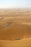 Sand dunes near the coast, aerial picture, Namibia, Africa