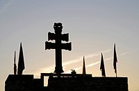 Symbol, backlight, evening, Sanctuary de la Vera Cruz, Santurio, sanctuary of the true cross, church, castle, museum, cross, Caravaca de la Cruz, sacr...