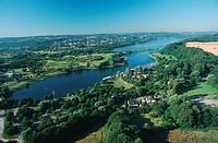 storage lake Kemnade, overview, Germany, North Rhine_Westphalia, Ruhr Area, Witten