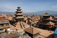 The Nyatapol Temple at Taumadhi Tole Square in Bhaktapur City, Nepal, Asia