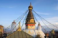 The Swayambhunath Stupa, Katmandu City, Nepal, Asia