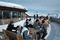 Tofane summit station, skiing area of Ra Valles_Tofana, Cortina d´Ampezzo, Dolomites, Veneto, Italy, Europe