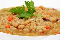 White bean soup, stew