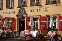 Goldener Hecht restaurant hotel, Heidelberg, Baden-Wuerttemberg, Germany