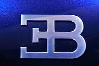 Bugatti logo, car exhibition of VW, Hamburg, Germany, Europe