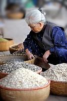 Old Vietnamese woman, Hanoi, Vietnam, Southeast Asia