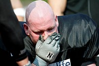 player sitting in the bench after defeat, 1st Bundesliga GFL South Division, Germany, Bavaria
