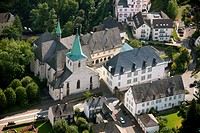 Aerial photo, Kloster Wedinghausen monastery with glass house, Arnsberg, Sauerland, Hochsauerlandkreis, North Rhine_Westphalia, Germany, Europe