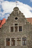 Hanse House, gable, Tallinn, Estonia, Baltic States, PublicGround