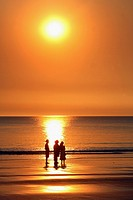 Cable beach at sunset. Broome, Western Australia