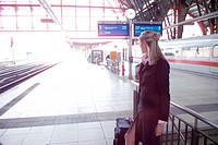 businesswoman travelling