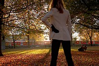 woman in a autumnal park
