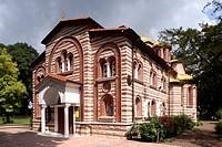Greek-orthodox church in Grueneburgpark park, Frankfurt, Hesse, Germany, Europe