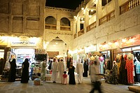 Stalls in Souq al Waqif market, the oldest Souq or bazaar in the country, the old section has been recently renovated and the newer section reconstruc...