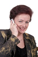 gently woman phoning with a mobile phone