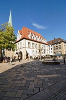 Central square of the old town, Bielefeld, North Rhine_Westphalia, Germany, Europe