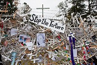Columbus, Georgia - Thousands of people rallied at the gates of Fort Benning, demanding the closure of the School of the Americas, where the United St...