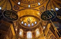 Hagia Sophia apse  Istanbul  Turkey