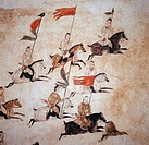 Hunting Scene_Wall Painting Chinese Art