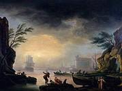 Mediterranean Coastal Landscape, A, Vernet, Claude_Joseph 1714_1789/French