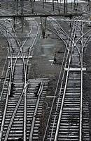 Railroads, station of Hendaye, Aquitaine, Pyrénées Atlantiques, France