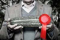Man holding winning marrow