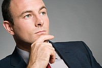A thoughtful looking businessman (thumbnail)