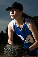 Female baseball player