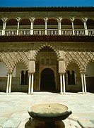 Exterior of the Alcazar with fountain