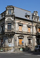 Unrestored town house built 1882 on Talstrasse Street, Leipzig, Saxony, Germany, Europe