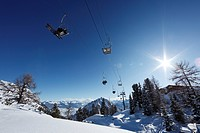Chair lift in the Rofan skiing area, Rofan Range, Tyrol, Austria, Europe