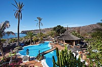 Swimming pool, Jardin Tecina Hotel, Playa Santiago, La Gomera, Canary Islands, Spain, Europe