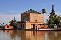 Saadier Palace in the Menara Gardens, Marrakesh, Morocco, Afric