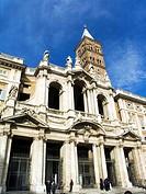 Santa Maria Maggiore Church, blue sky, Esquilino, Rome, Italy, Europe