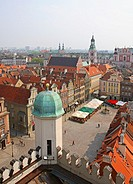Old Market Square ond city of Poznan, Poland