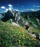 Hiker in French Alps