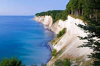 Chalk Cliff Coast, view on Baltic Sea, Isle of Rugen, national park Jasmund, Mecklenburg_Western Pomerania, Germany / Rügen