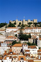 Castelo de Sao Jorge, medieval castle in the Mouraria district, historic centre of Lisbon, Lisboa, Portugal, Europe